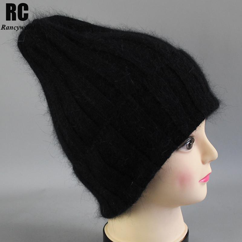 Rancyword Thick Winter Hats For Women Angora Beanies Hat Knitted Wool Warm  Beanie With Back Opening 2018 New RC2055 Stetson Hats Trilby From Shukui 3744bca49cf