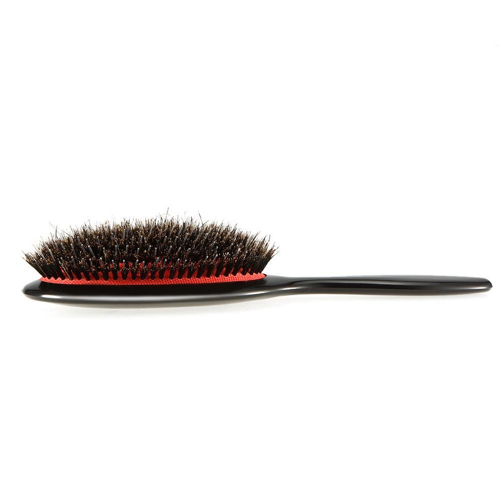 Oval Boar Borsten Nylon Haar Kamm Mini ABS Griff antistatische Haar Kopfhaut Massage Kamm Haarbürste Salon Haarbürste Styling-Tool