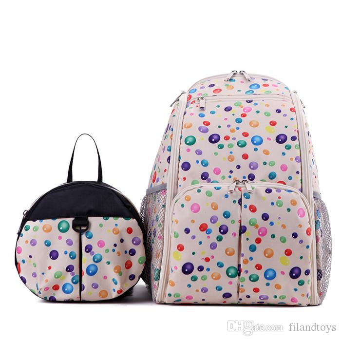 Bottom Hideaway Diaper Bag with anti lost kids mother tote Pad Diaper Nappy vacuum mummy backpack