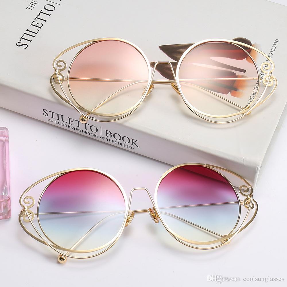 c6e3afabed Compre Forme A Mujeres Redondas Para Las Gafas De Sol Diseñador De La Marca  Sombras Clásicas Hombres Gafas De Sol De Lujo De Alta Calidad UV400 A $5.0  Del ...