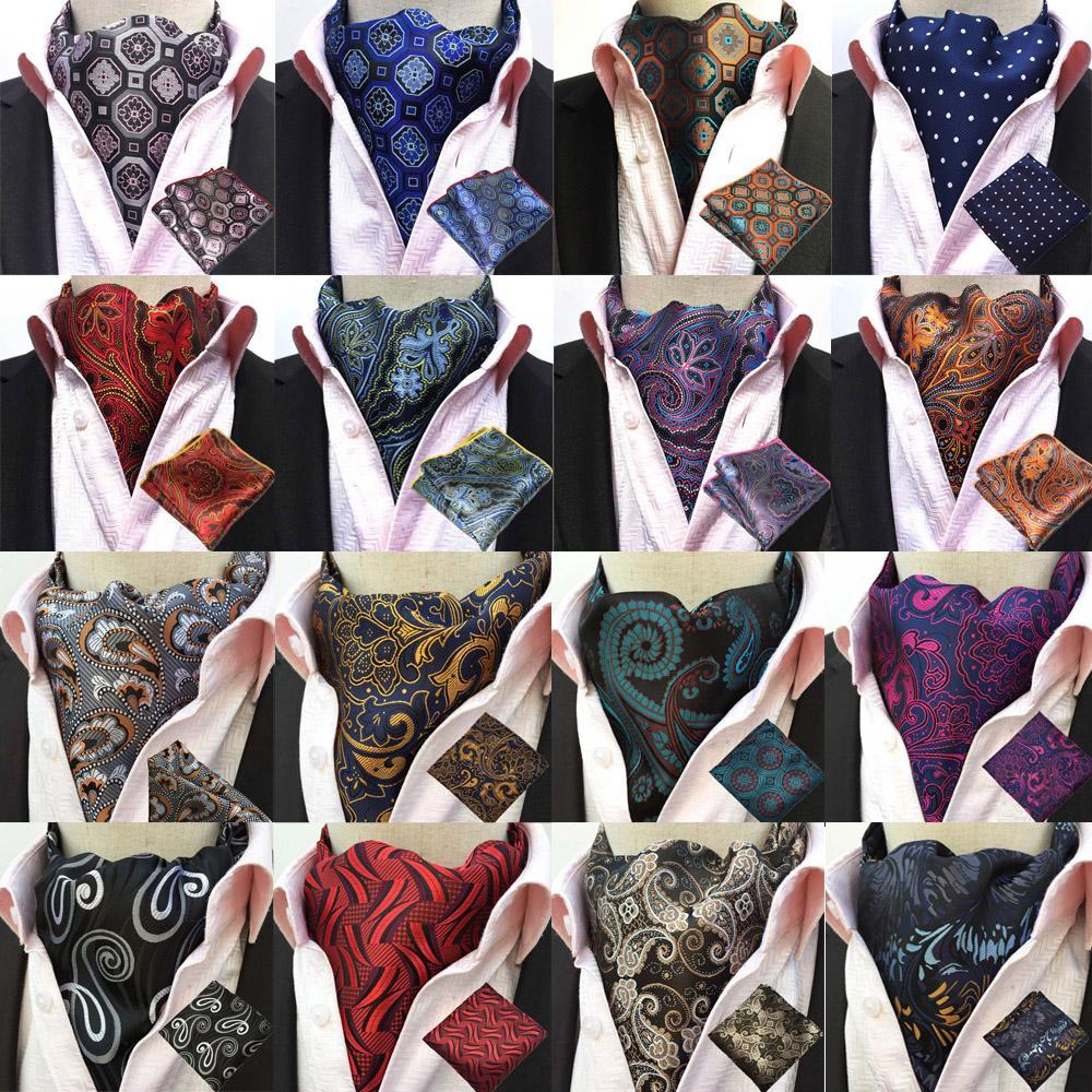 e596026e876a Acheter Paisley Soie Cravat Ascot Cravate Mouchoir Pochette BWTHZ0238 De   11.55 Du Chongyangclothes009   DHgate.Com