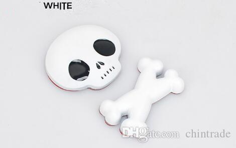colorfull 3D Metal Skull Skeleton Car Motorcycle Body Emblem Badge Fashion Crossbones Car Sticker for car styling