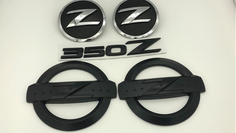 noir 350z badge kits voiture carrosserie arrière emblème autocollants pour 350z fairlady z33