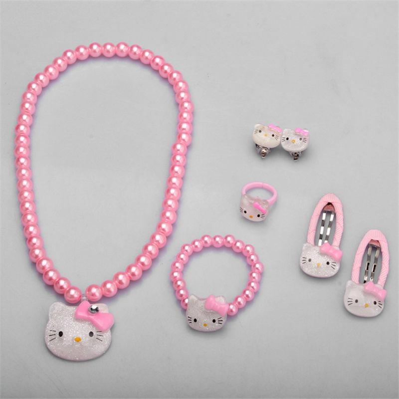 4ef766ca9 Children Hair Accessories Set Hello Kitty Jewelry =Jewelry Accessories  Necklace Bracelet Hairpin High Quality Gold Bangles For Baby Boy Jewellery  Designs ...