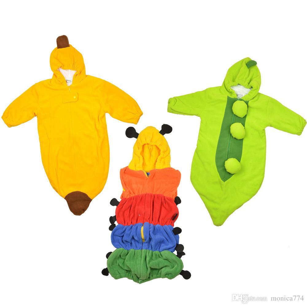VENDITA CALDA! Trasporto di goccia Liberi la nave! Bambini adorabili al minuto Pisello / banana / pinguino / peperoncino / sacco di sonno della zucca Sacchi magici di sonno Infantile della falda, uno strato
