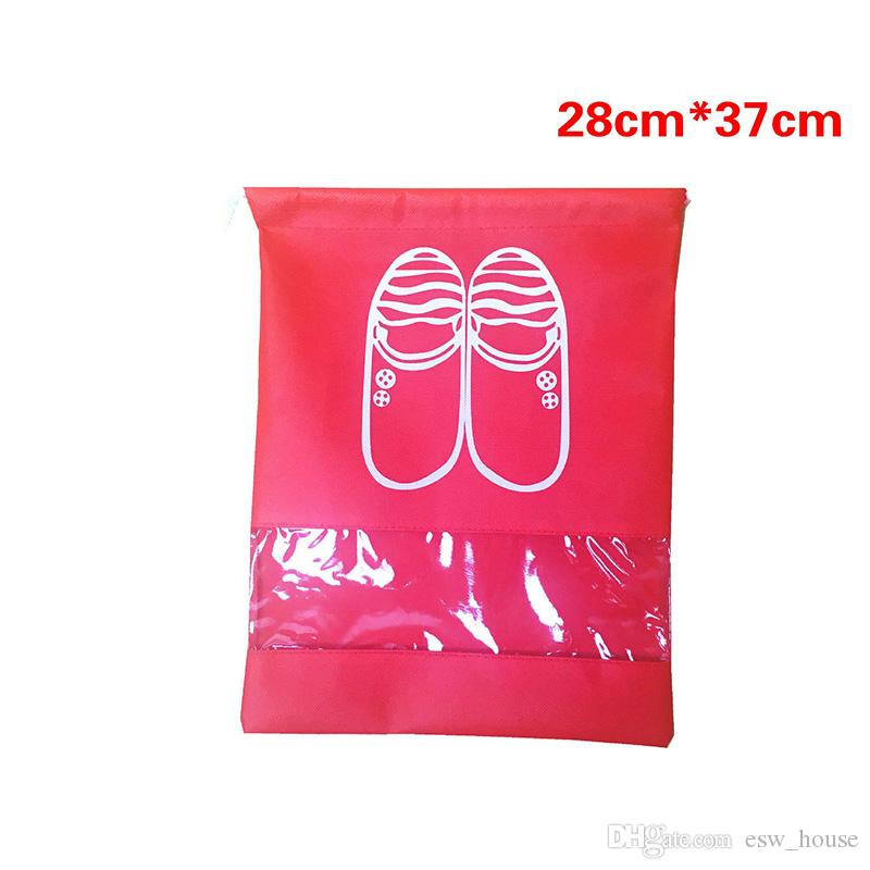 Non-Woven Fabric Shoes Storage Bags Women Men and kids Dustproof Cover Shoes Bags Travel Beam Port Shoes Storage Bags