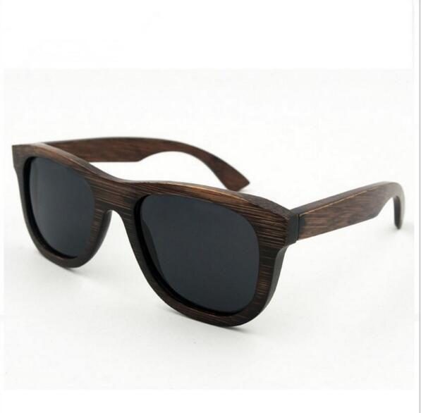 784ec579e9509 Men Women Real Bamboo Wooden Sunglasses Vintage Retro Style Polazied Lens Prescription  Glasses Sunglass From Bingen
