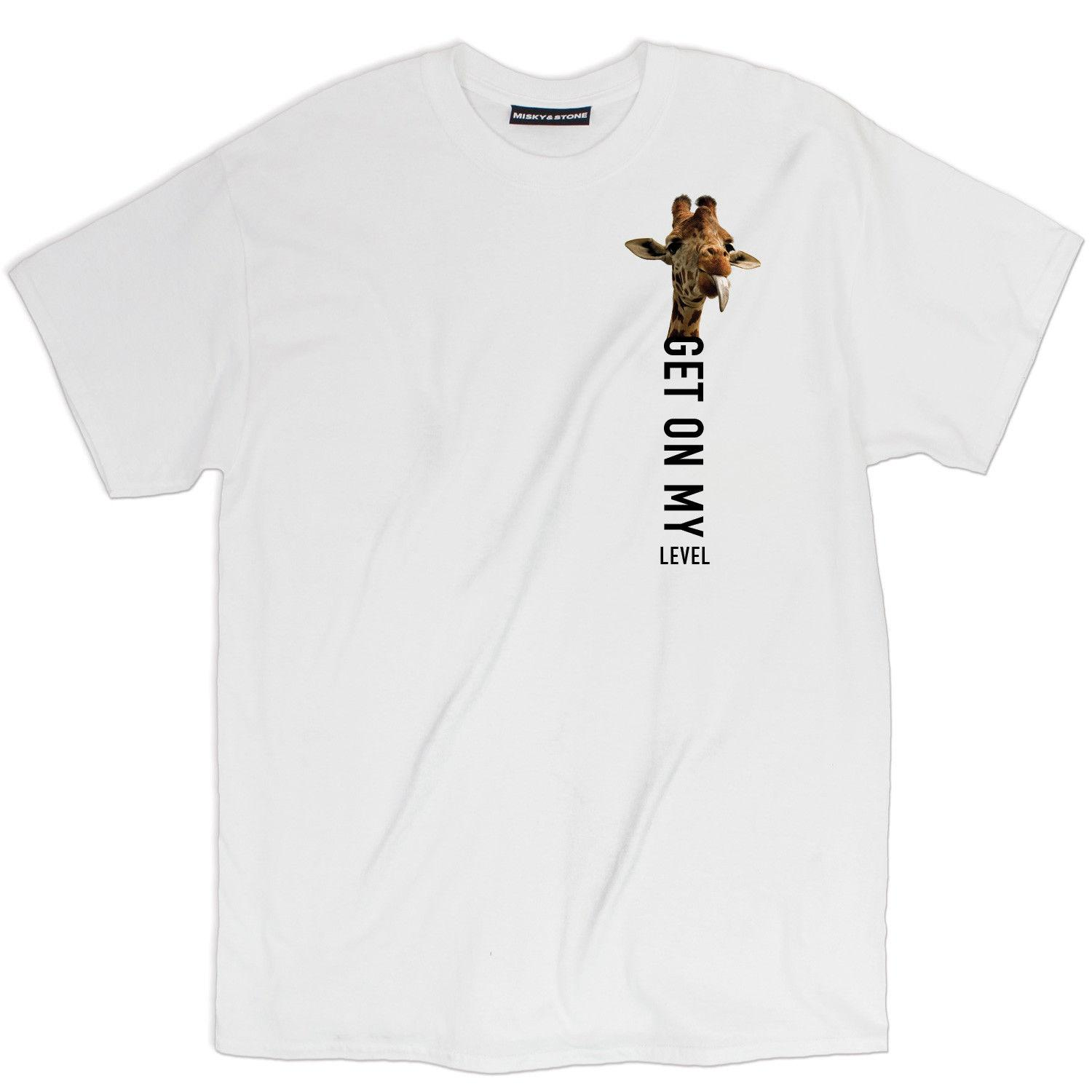 d161dacad Misky & Stone Get On My Level Funny Giraffe Left Chest Loose Fit Tee S 3xl  Comfortable T Shirt Casual Short Sleeve Print The Who T Shirt T Shirts  Designs ...