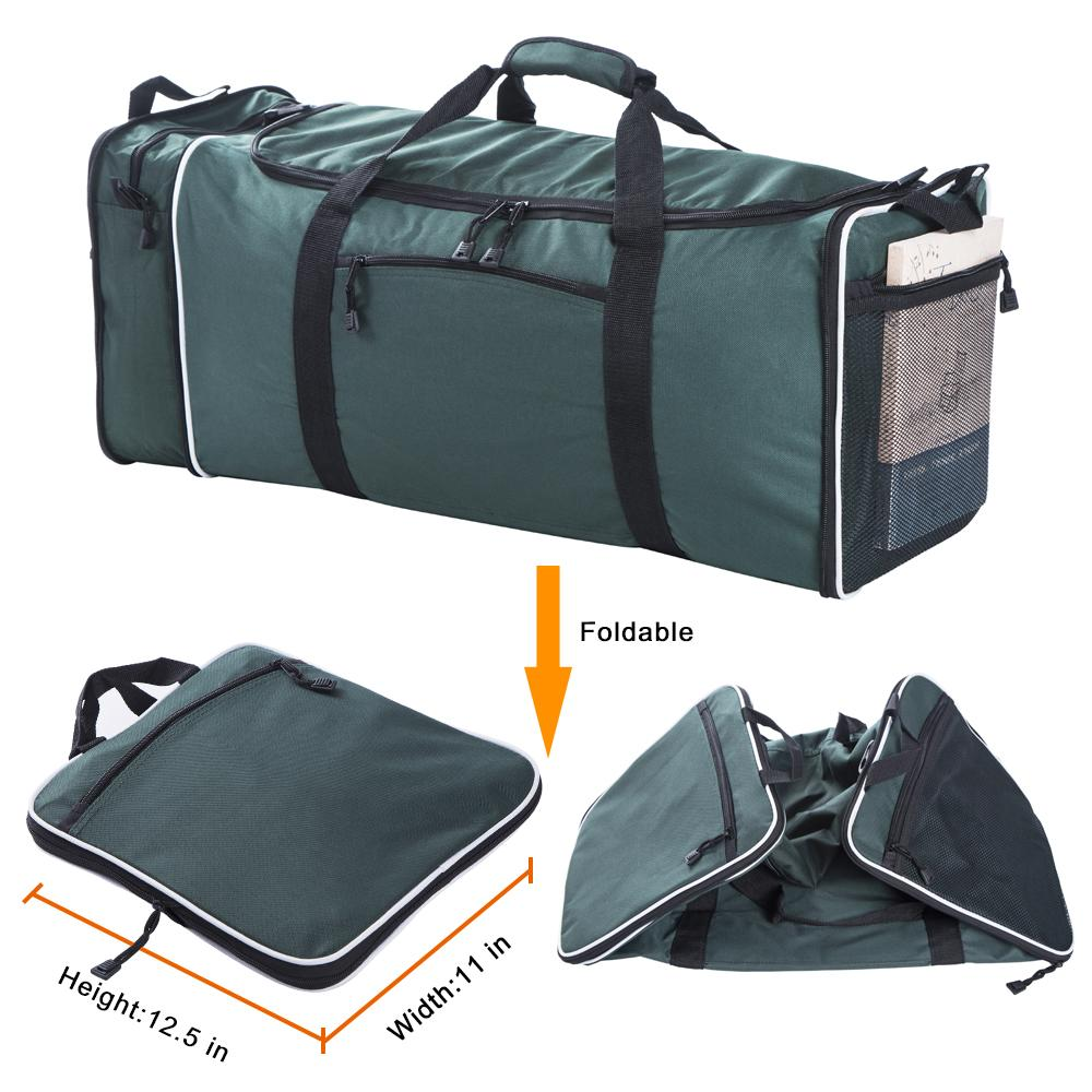 90a6a463a Flyone LARGE TRAVEL DUFFLE Bag 11x12.5x25 Inch With 57L Capacity Polyester  Travel Duffel Bags Foldable Bag Single Shoulder Strap Leather Handbags Hand  Bags ...