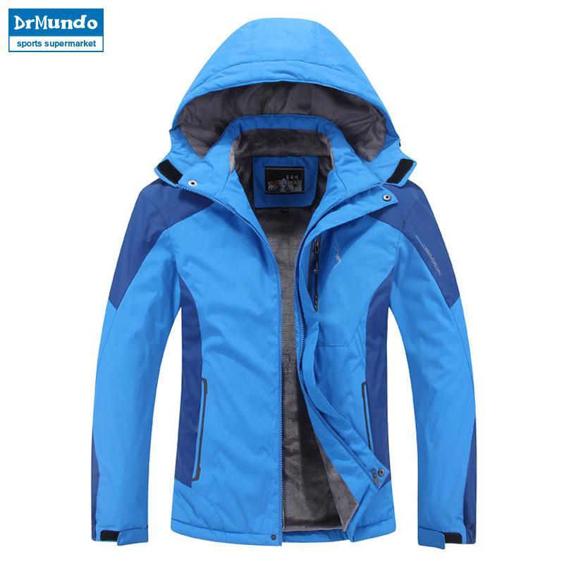 5443eef1e7 Plus Size Men Ski Jacket Men Mountain Thicken Plus Fleece Ski-wear ...