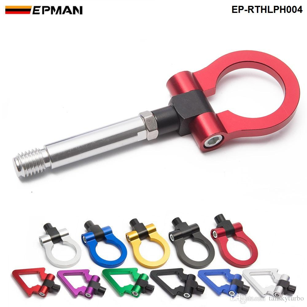 Japan Model Car Auto Trailer Tow Hook Ring Eye Towing Front Rear Aluminum For Honda FIT 08 EP-RTHLPH004