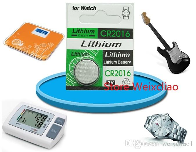1 CR2016 3V lithium li ion button cell battery CR 2016 3 Volt li-ion coin batteries for Watch