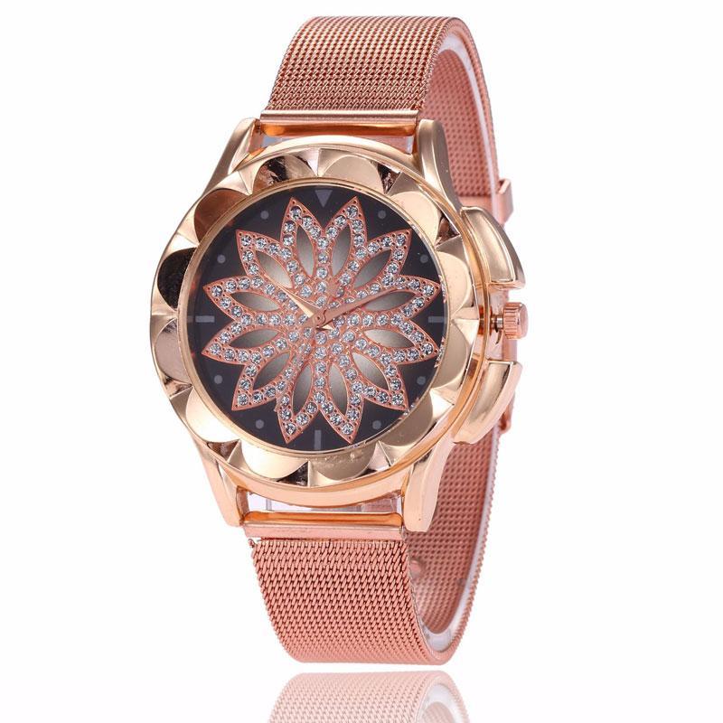 784d2f3e7405 Compre Flor De Loto Mano Catenaria Pulsera Reloj Mujer Montre Femme Zegarek  Damski Reloj Mujer Relojes Para Mujer Bayan A  38.5 Del Shuidianba