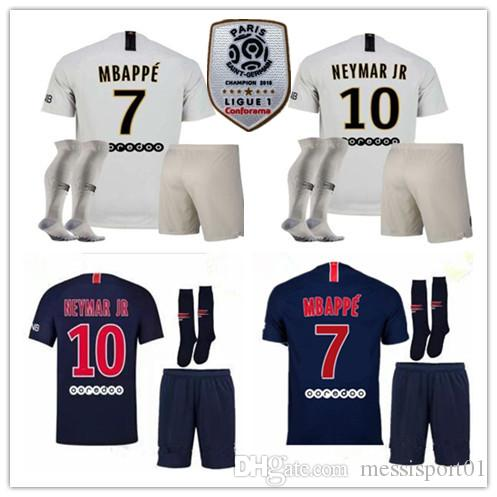 2018 19 Paris Soccer Jerseys Adult Kit 18 19 Mbappe Home Away ... f9da8d132