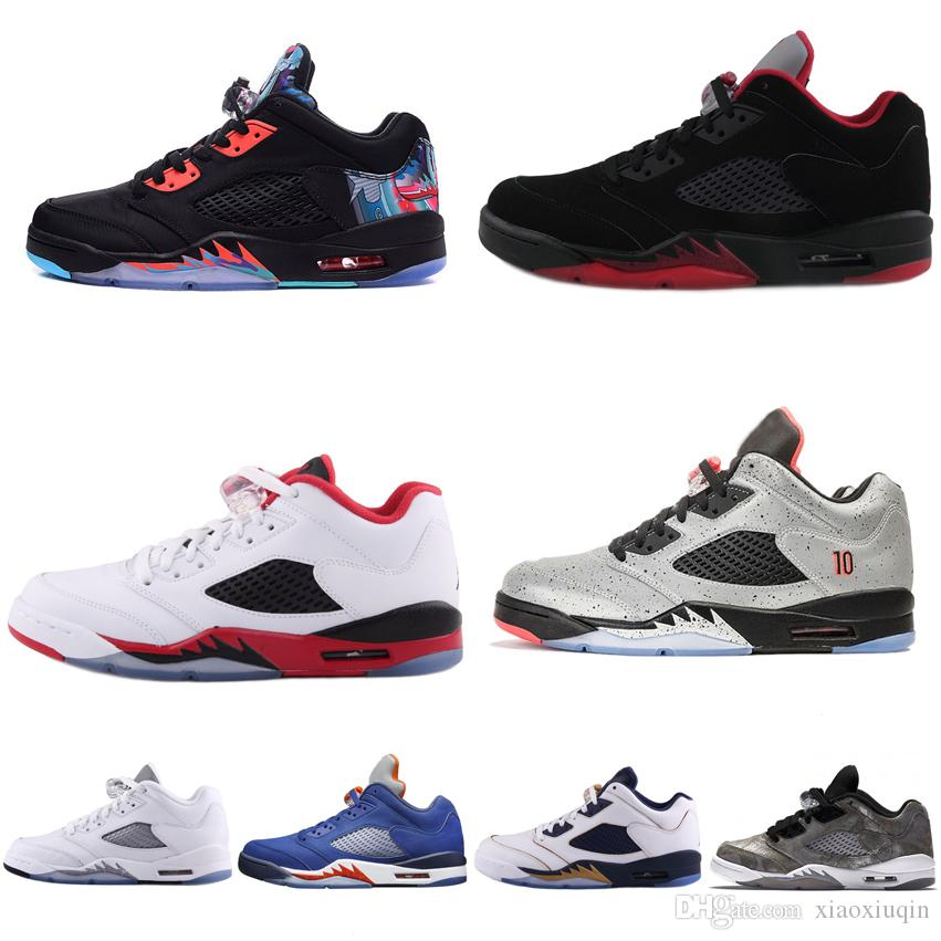 ab36445b59c6 Cheap Cheap Mens Retro 5s Low Basketball Shoes for Sale China CNY Bred  Black Red White 3M Aj5 Jumpman Air Flights Sneakers Tennis J5 with Box