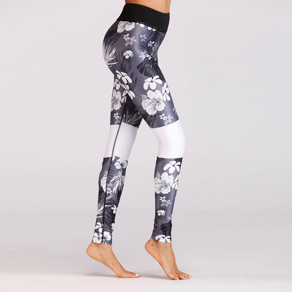 2115c5a2cc5955 2019 New Women Leggings Floral Print Sport Yoga Pants Skinny Stretchy Girls  Workout Full Length Spring Summer Autumn Trousers From Lovson, $14.22    DHgate.