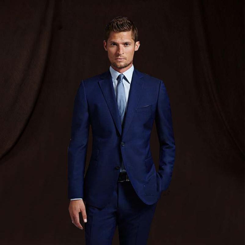 Compre Vestido Azul Marino Del Novio Desgaste De Esmoquin De Boda Traje De  Hombre Con Pantalones Trajes De Boda Padrinos De Boda Traje De Negocios  Formal ... e8cdfcee6822