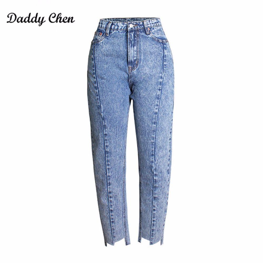9261d666a1 Compre Pantalones Vaqueros Mujer Cintura Alta Pantalones Vaqueros Mamá Novio  Femme Push Up Denim Tobillo Longitud Pantalones Grandes Tallas Grandes Mujer  ...