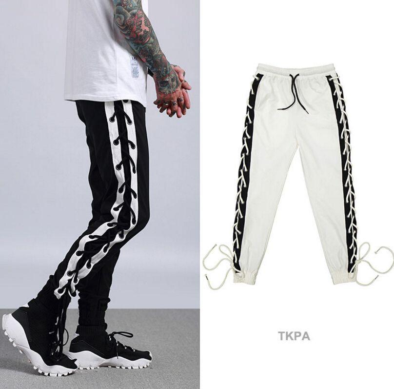 Acquista TKPA Mens Jogger Sports Pants Bandage Design Hip Hop Elastico In  Vita Pantaloni Lunghi Da Uomo Pantaloni Casual A  60.02 Dal Vogueapparel  a56426cbedd4
