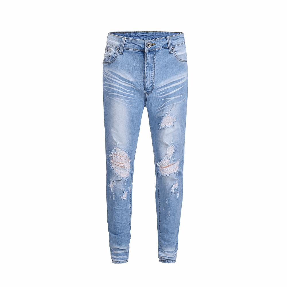 9a3c2e0d 2019 2018 NEW TOP High Quality Justin Bieber FOG Men Ripped Jeans Hip Hop  Fashion Casual Skinny Designer Holes Jeans Blue 30 36 From Zanzibar, ...