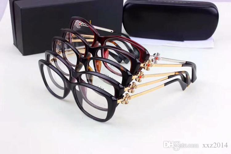 d3033144cc2 NEW BV4145-B glasses Eleglant female frame quality metal and pure-plank  prescription galssses 55-17-140 with full-set case freeshipping