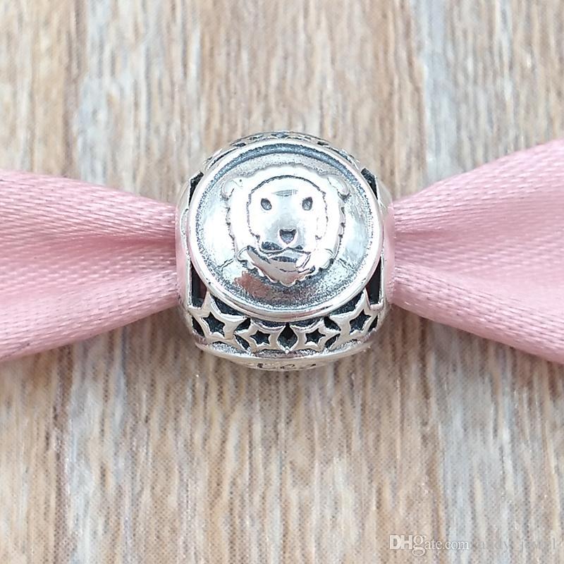 레오 스타 로그인 매력 925 스털링 실버 비즈 유럽 판도라 스타일의 보석 팔찌 Necklace791940 조디악의 증상
