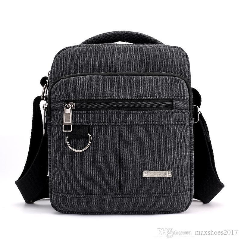 2018 New Fashion Canvas Shoulder Bag Men S Casual Business Large Capacity  Single Shoulder Bag Flap Messenger Bag Handbags Wholesale Purses For Sale  From ... 265c12175ec74