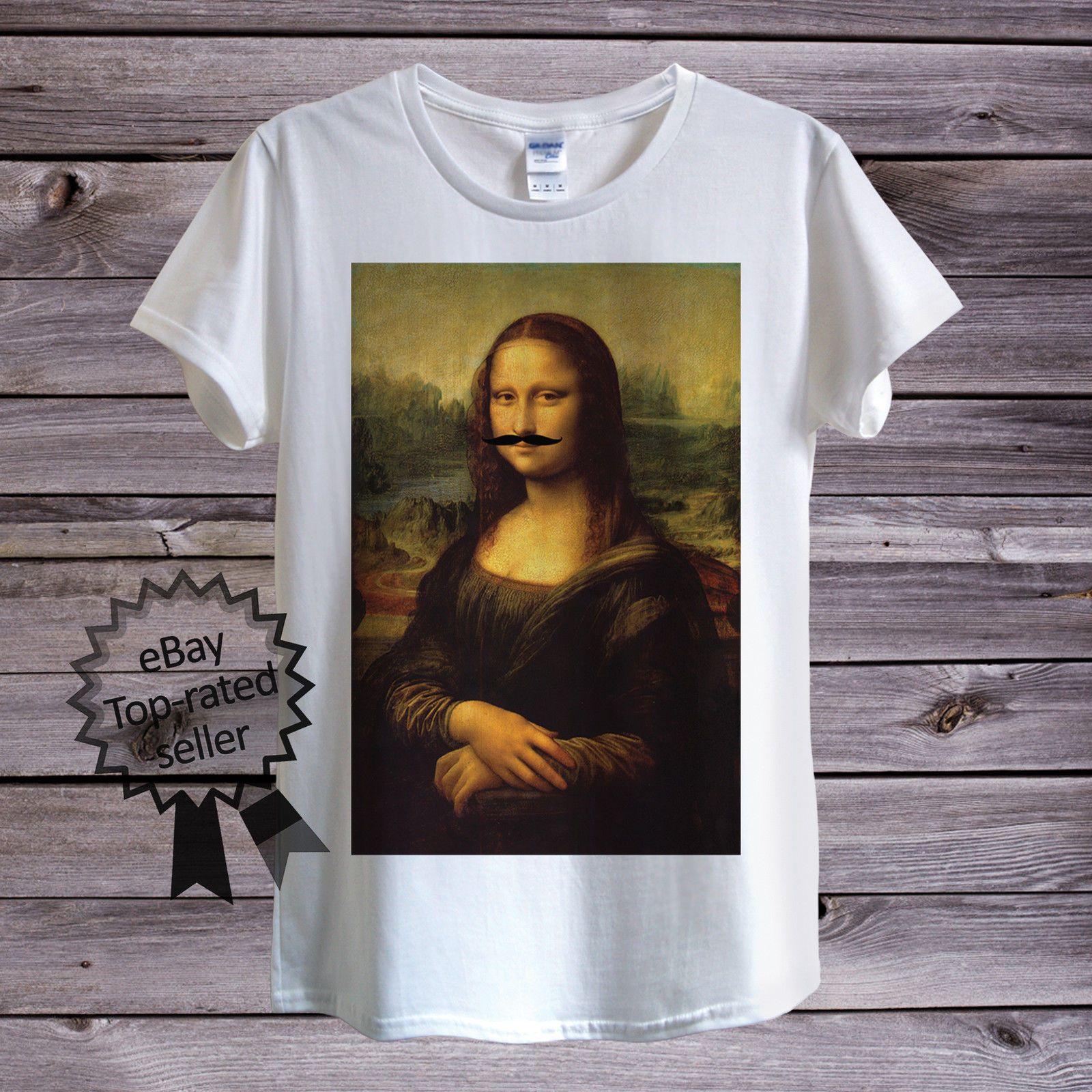 Para Camiseta Vintage Hombre Mujer Vinci UnisexLeonardo Lisa Da O Mona Moustache 8OXknw0P