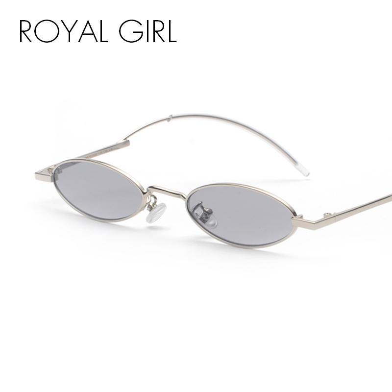 297344526eb ROYAL GIRL 2018 New Small Oval Steampunk Sunglasses Women Men Fashion Brand  Designer Red Pink Clear Lens Round Sun Glasses Ss682 Sunglasses Cheap  Sunglasses ...