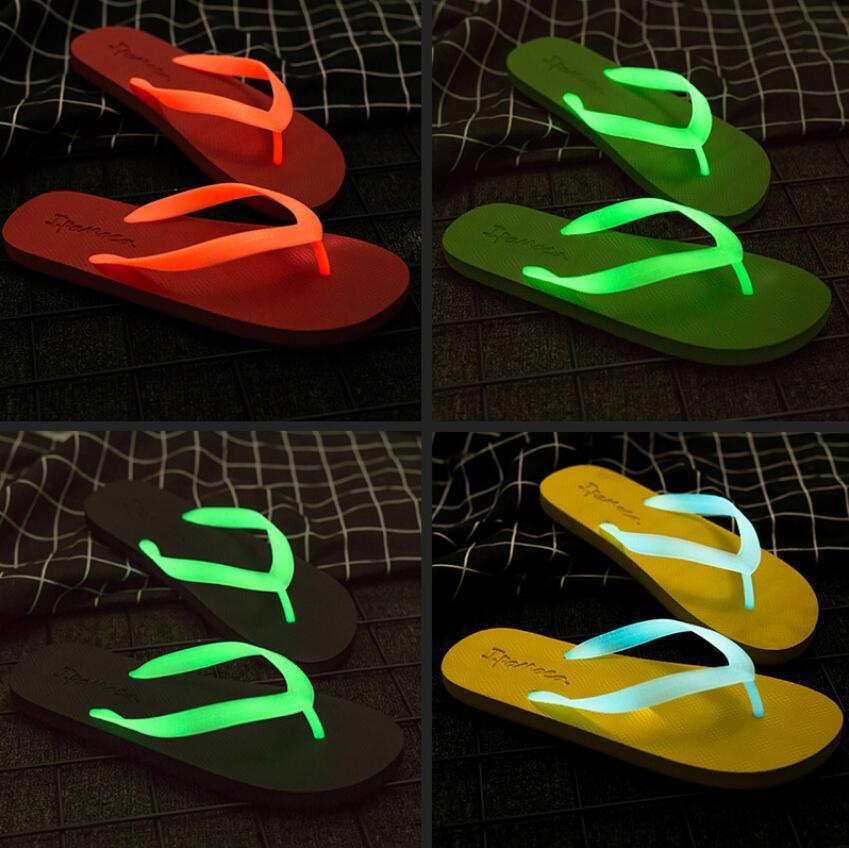 5aae1f9af Fashion Luminous Slippers Summer Flip Flops Sandals Outdoor Flat ...
