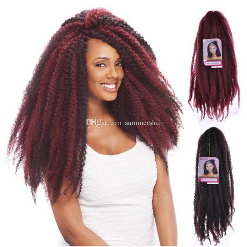 18inch 100g Synthetic Kinky Twist Hair Color Hair Crochet Braid