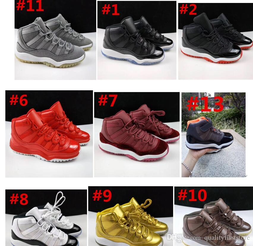2a18526fbb8 New 11 Space Jam Kids Sports Basketball Shoes GS Children's Heiress ...