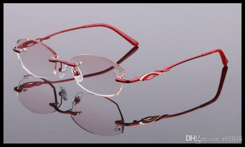 2018 Der neue Diamantschliff randlose Gläser Semi-Titan-Brillengestell für den Strahlenhersteller Großhandel.