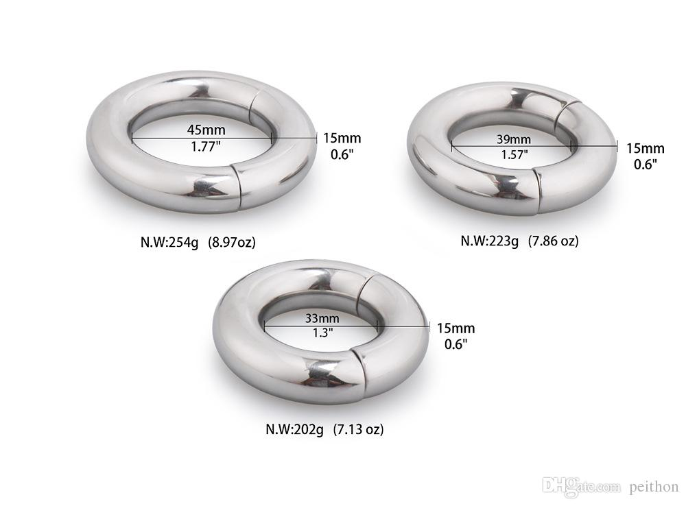 Mens Stainless Steel Weight Bearing Ring Erectile Physical Therapy Magnetic Attraction Sex Toys For Adults Erectile Physical Therapy Online With