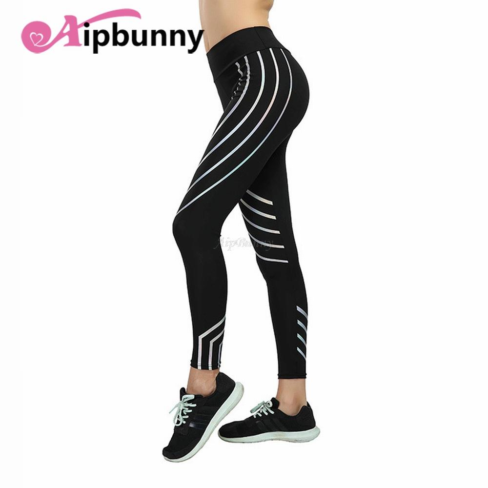 74e7075c31 Plus Size XXXL Laser Reflective Legging Women'S Yoga-Pants Big-Girl Sport  Fitness Leggings Tranining Running Joggers Sweatpants