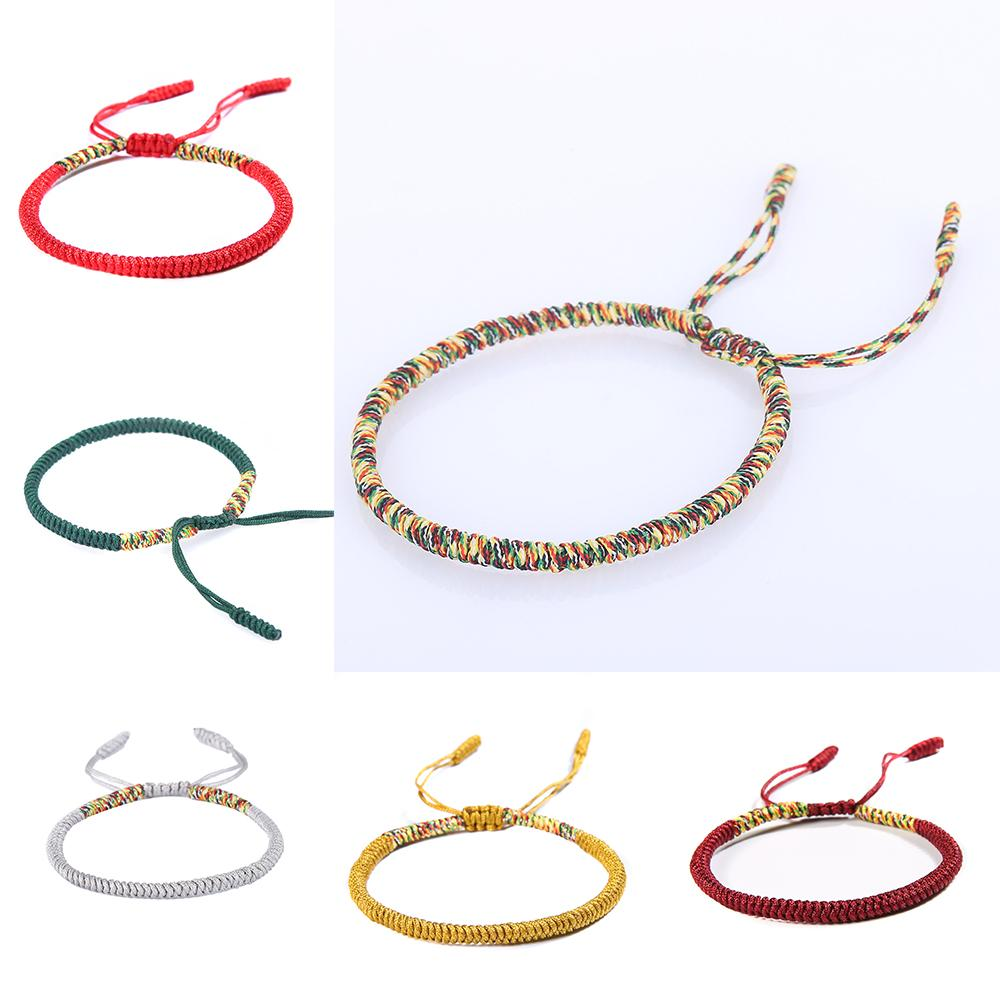 d4f001f0bec53 National Handmade Tibetan Buddhist Braided Bracelet Lucky Knot Red Rope  Bracelet For Men Women Multi Color Gift Party Bracelet Gold Chains From  Loquat18