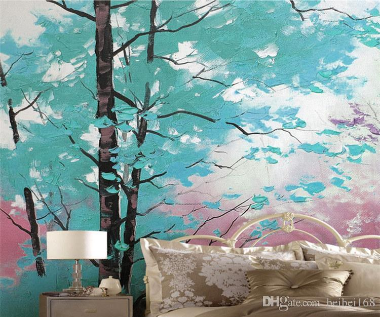 3d abstract wallpapers wall papers home decor 3d papel pintado pared rollos colorful tree murals wallpaper roll painting mural