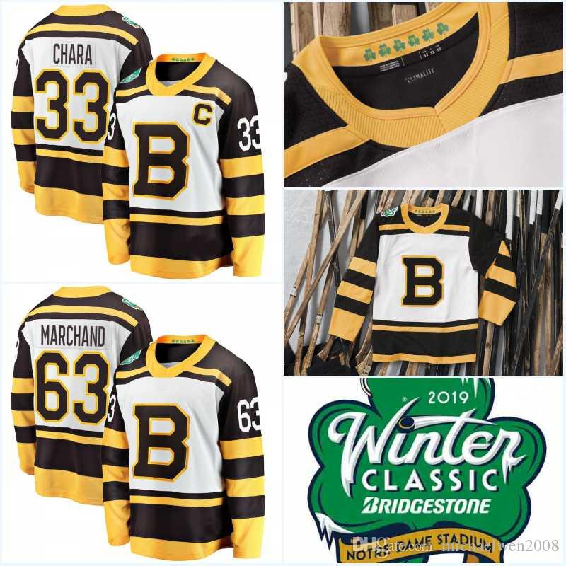Mens 2019 Winter Classic Jerseys Boston Bruins Zdeno Chara Brad Marchand  David Pastrnak PatriceBergeron Tuukka Rask Hockey Jerseys Canada 2019 From  ... c82bf4b342e