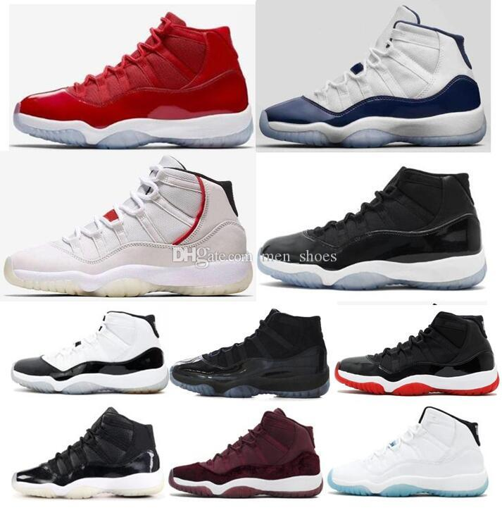 f7a85ffea83 High Quality 11 11s Space Jam Platinum Tint Concord 45 Basketball Shoes Men  Women Bred Midnight Navy Gamma Blue Sneakers With Box