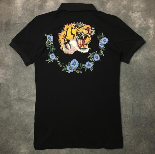 15a7bc374437 Europe Tiger Polo Mens Shirt 2018 Summer New Men Cotton Short Sleeve ...