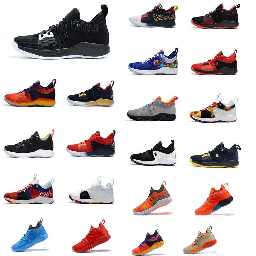 sports shoes b4b76 6ae40 Cheap 2018 new Mens PG 2 low cut basketball shoes 2s Zoom Air Paul George  PG2 elite sneakers boots with box for sale