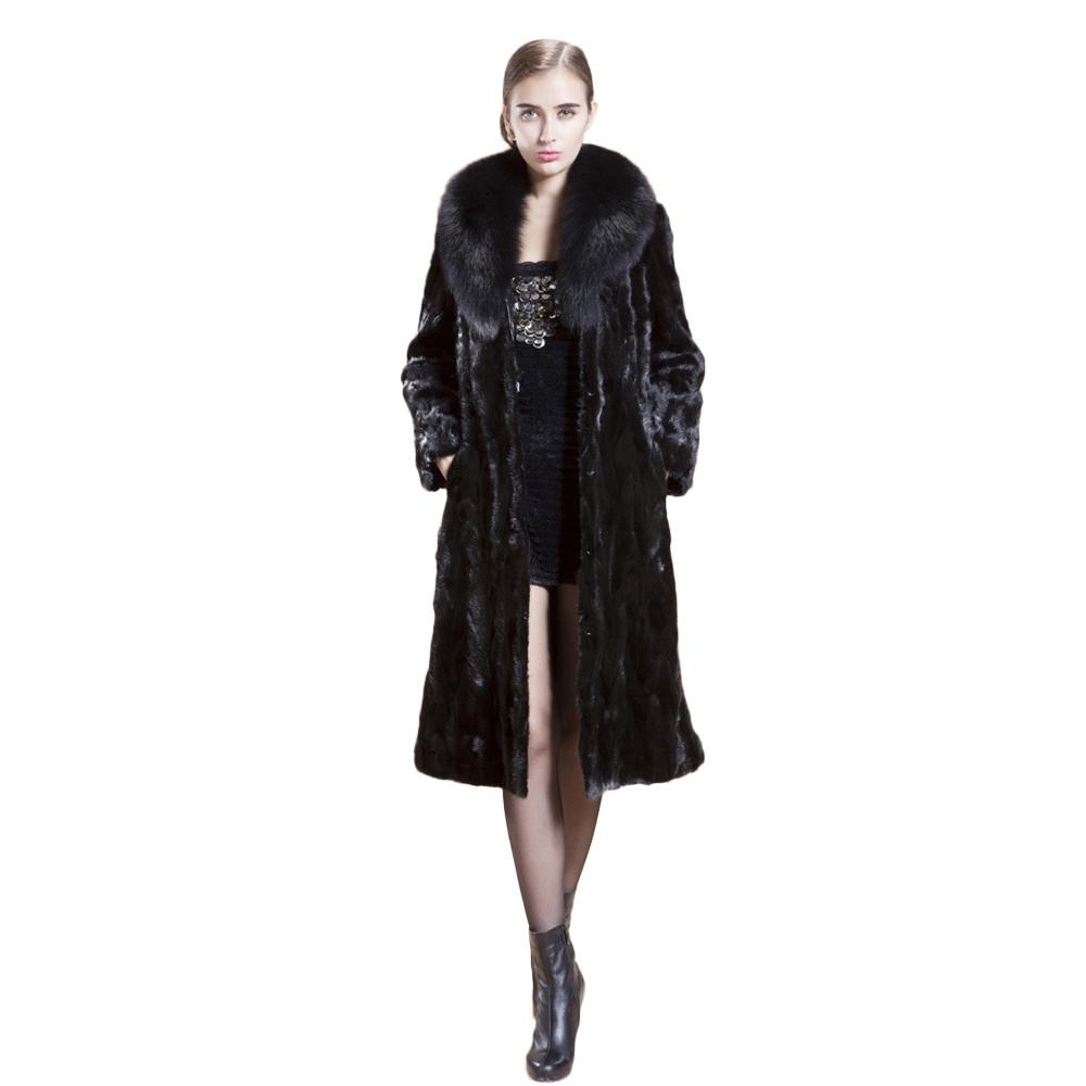 low priced 448be 0ee0b Damen Langer warmer Kunstpelzmantel mit Kapuze Mantel Jacke Winter Parka  Oberbekleidung Casaco de pele verdadeira