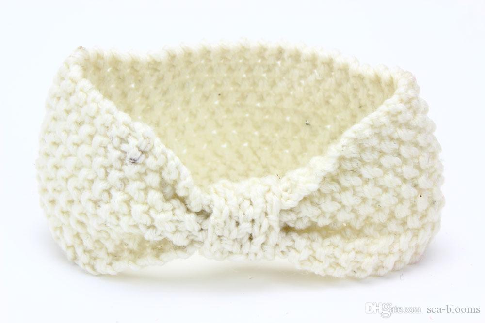 Baby Bohemia Turban Knitted Headbands Fashion protect Ear Bow Headwear Girl Hair Accessories Support FBA Drop Shipping D486Q