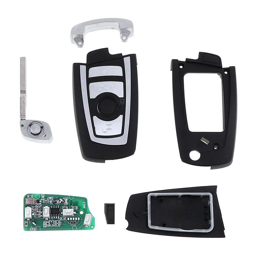 433Mhz 3 Buttons EWS Modified Flip Remote Key PCF7935AA ID44 Chip for BMW E38 E39 E46 M5 X3 X5 Z3 Z4 HU58 KEY_10G