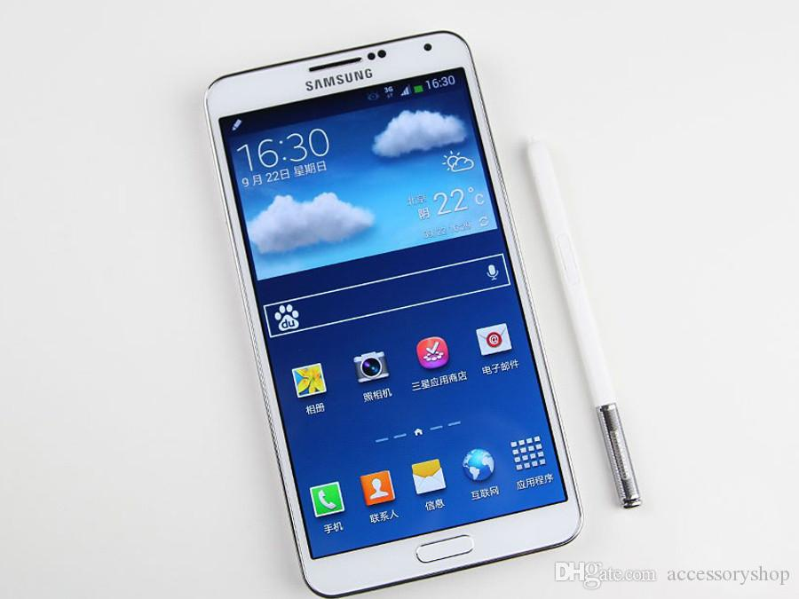 تم تجديده الأصلي سامسونج غالاكسي ملاحظة 3 N9005 4G LTE 5.7 بوصة رباعية النواة الجيل الثالث 3G RAM 32GB ROM 13MP الهواتف الذكية DHL