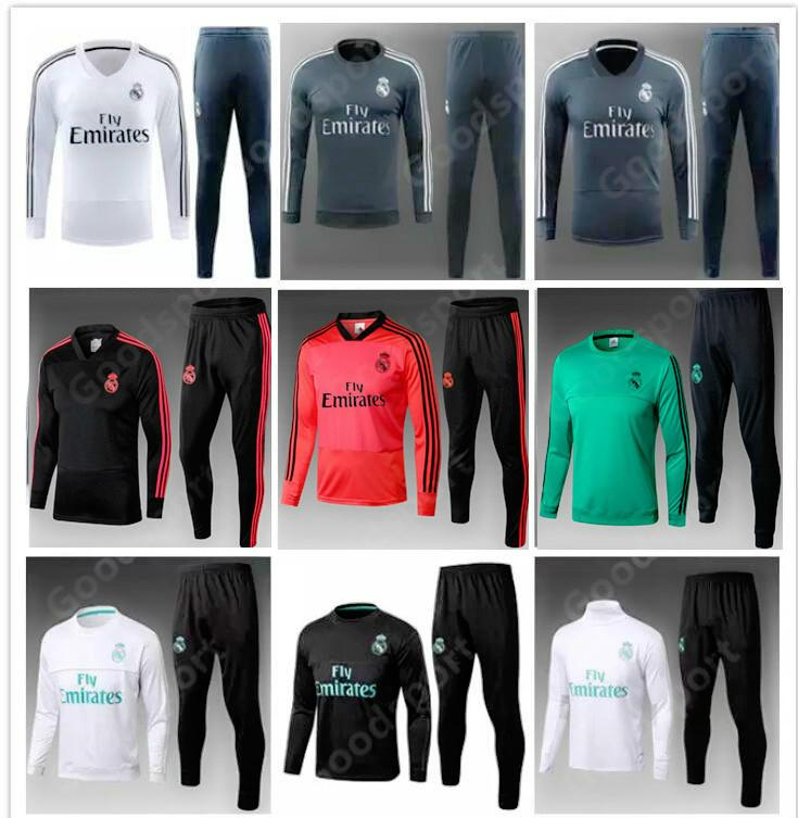 outlet store 2ea3a 07d4b 2019 REAL MADRID Tracksuits Training KITS outfits Pants Soccer Jerseys  Ronaldo ASENSIO Football SERGIO RAMOS NEW GREEN sale SR sr sr