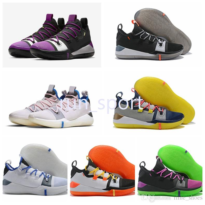 3bc1dd3c83a4 Kobe AD Mamba Day AD EP Sail Multi Color Kobe Basketball Shoes 2018 Kobe  Bryant Exodus Derozan Black Mens Trainers Sports Sneakers Kb Basketball  Shoes Kobe ...