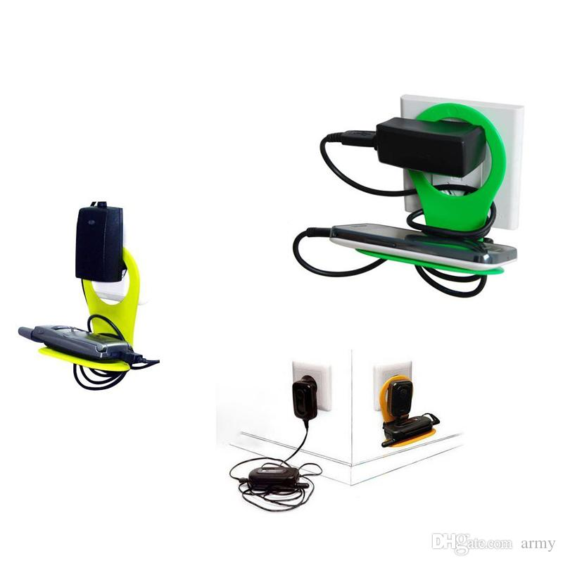 Newest Folding Cell phone Charger Pallet Stand Holder Travel Portable battery Charging Hanging Hook Sucker Mounts for Mp3 phone