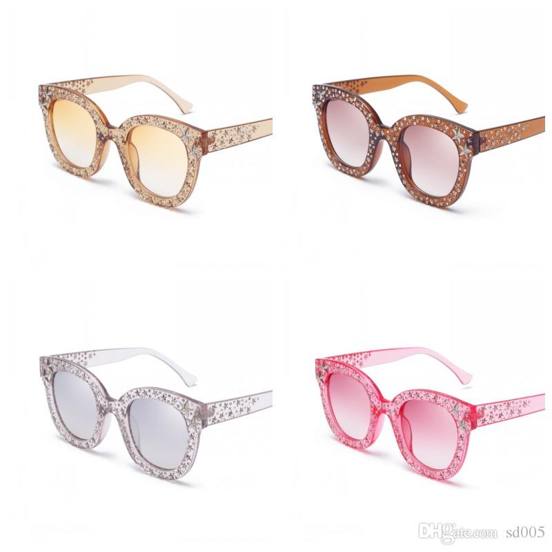 a774675316 Fashion Ladies Luxury European Style Sun Glasses Full Large Frame Sunglasses  Five Star Rhinestone Decor Women Eyeglasses Hot Sale 21gf Z Sport Sunglasses  ...