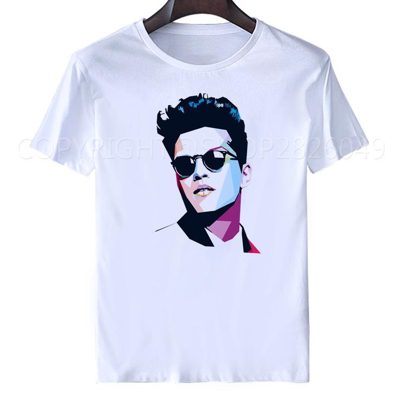 0e598b6c1638 Bruno mars T shirt dos homens topos 2018 Moda casual verão branco camisetas  DJ Macho Famale Tees mulheres de manga curta plus size s-xxxl